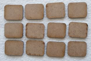 MDF Bases FOWS Flames of War Small Bases Lasercut (12x per Pack)